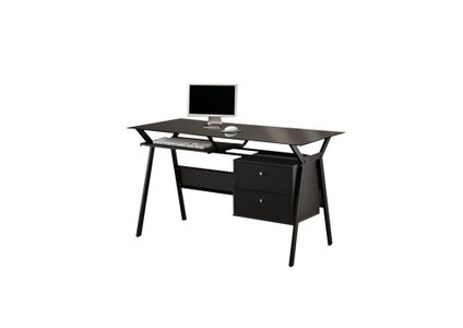 Casual Computer Single Seater Desk Black