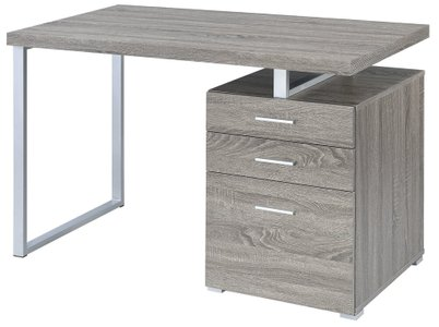 Contemporary Writing Desk Weathered Gray
