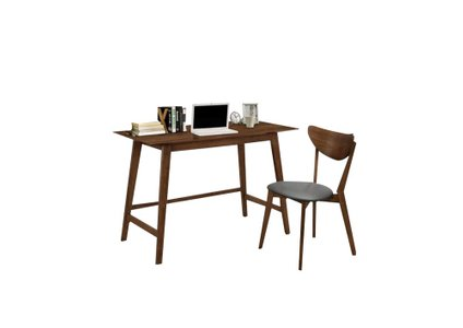 Modern Single Seater Desk And Chair Set Walnut