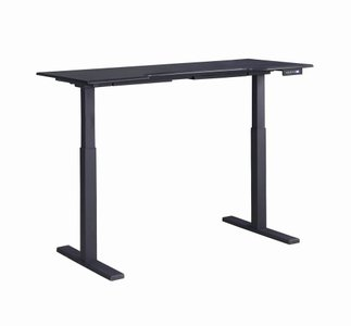 Adjustable Sit-Stand Desk Black