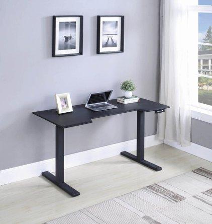 Adjustable Sit-Stand Desk Black