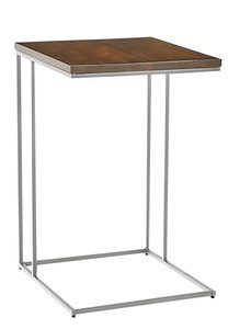 West Elm Streamline C-Side Table Dark Walnut