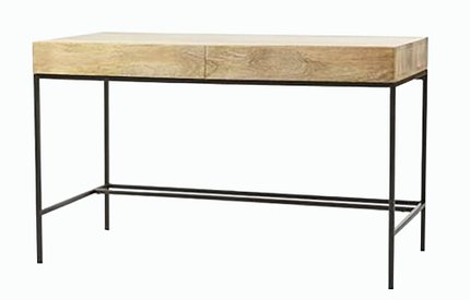 West Elm Industrial Storage Desk Natural