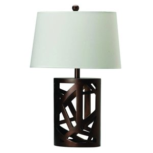 Transitional Warm Table Lamp Brown