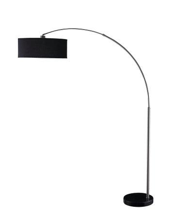 Contemporary Floor Lamp Black/Chrome