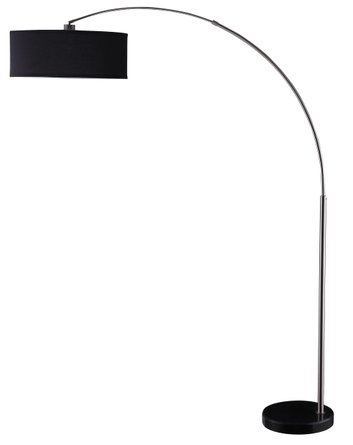 Contemporary Floor Lamp Black And Chrome