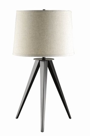 Industrial Tripod Table Lamp Beige