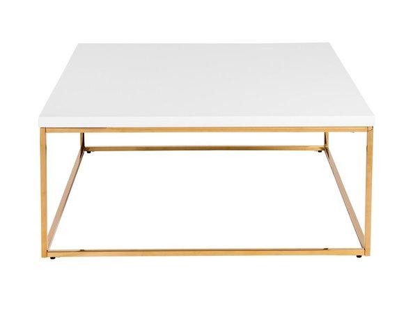 Teresa Square Coffee Table White & Gold