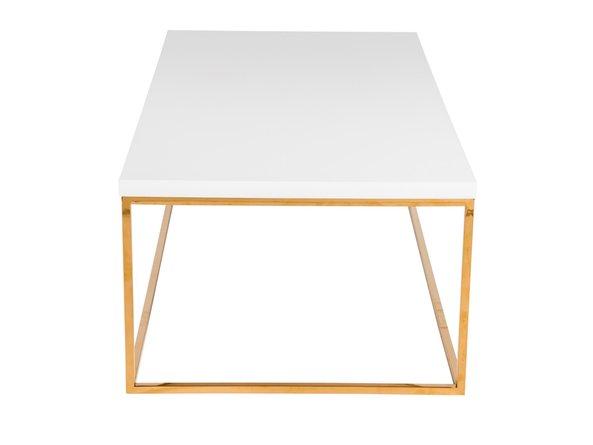 Teresa Rectangular Coffee Table White & Gold