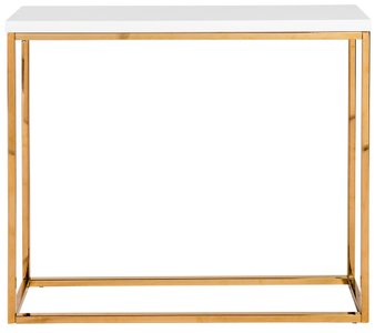 Teresa Console Table White & Gold