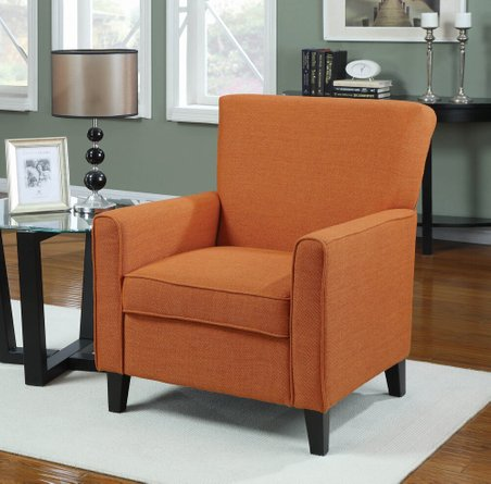 Casual Accent Chair Orange