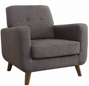 Transitional Accent Chair Gray