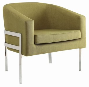 Contemporary Accent Chair Green