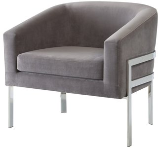 Contemporary Accent Chair Gray