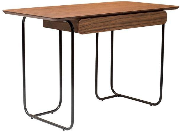 "Halle 48"" Desk Walnut & Black"