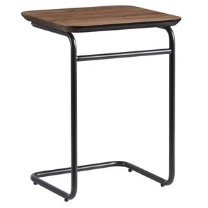 Halle Side Table Walnut And Black