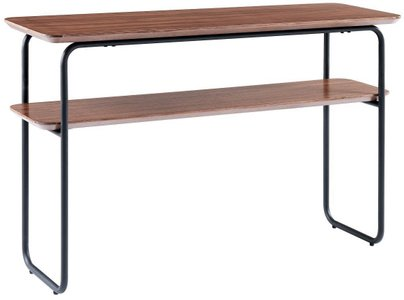 Halle Console Table Walnut & Black