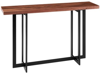Hardy Console Table Walnut & Black