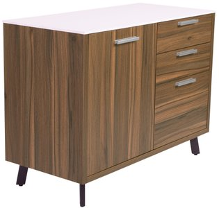 "Hart 40"" File Unit White & Walnut"