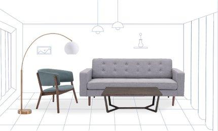Cooper Contemporary Living Room
