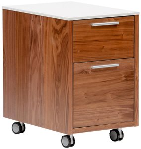 "Hugo 16.3"" File Cabinet White & Walnut"