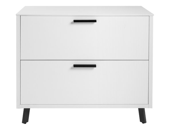 Hugo 2 Drawer Lateral File Cabinet White