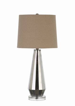 Transitional Table Lamp Silver