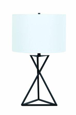 Drum Table Lamp White/Black