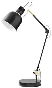 West Elm Clinton Task Lamp Black