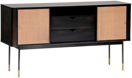 "Miriam 59"" Sideboard Black & Natural"