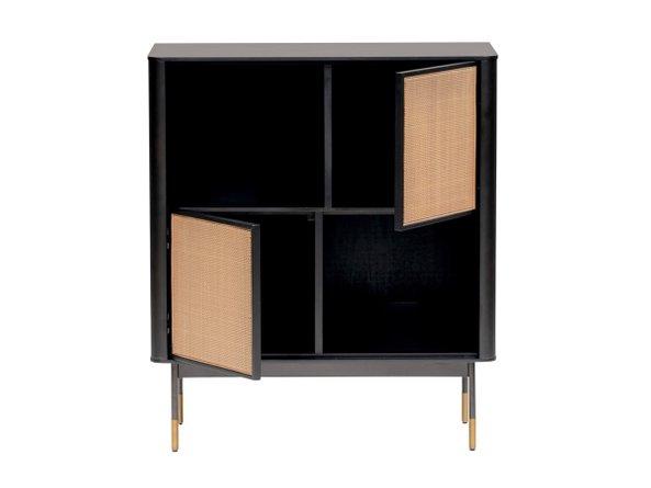 """Miriam 33"""" Cabinet Black & Natural"""