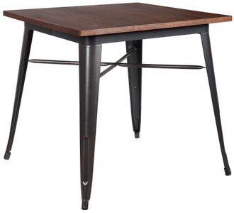 "Danne 32"" Dining Table Walnut & Antique Black"