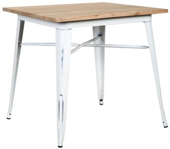 "Danne 32"" Dining Table Natural & Antique White"