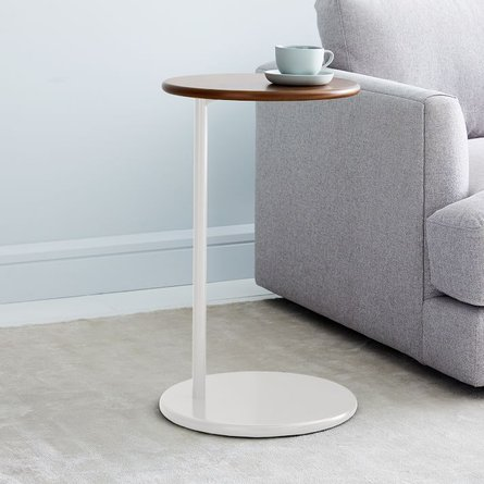 West Elm Ruby C-Side Table Dark Walnut