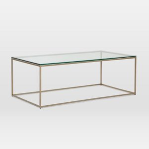 Streamline Coffee Table Glass And Light Bronze