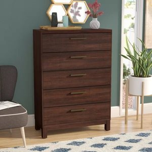 Shrout 5 Drawer Chest Rustic Tobacco