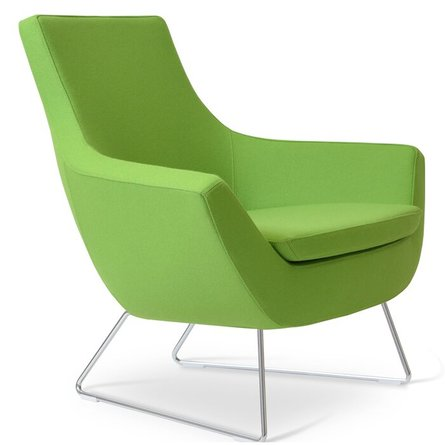 Rebecca Lounge Chair Pistachio Camira Wool