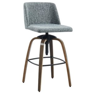 Autaugaville Adjustable Height Bar Stool Gray