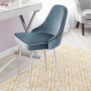 Elim Velvet Upholstered Dining Chair Blue (Set of 2)