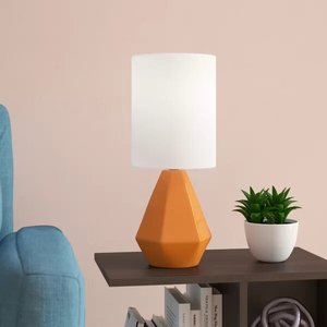 "Bret 17"" Table Lamp Orange"
