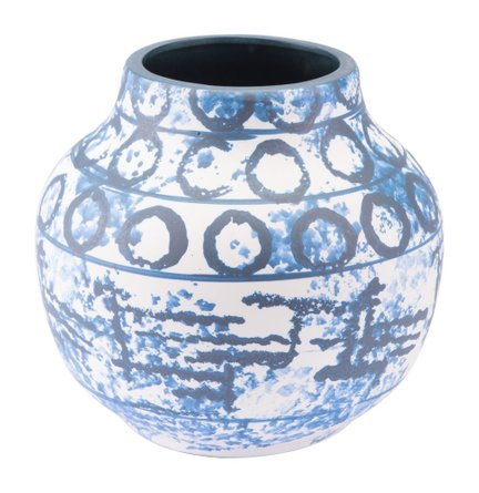Ree Sm Vase Blue & White (Set Of 2)