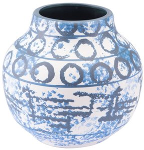 Ree Sm Vase Blue & White