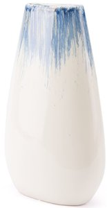Ombre Large Vase Blue & White
