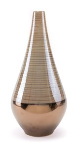 Dual Tall Vase Brown & Pearl
