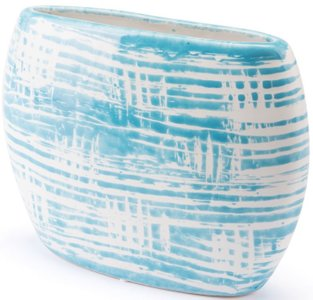 Washed Planter Blue & White (Set Of 6)