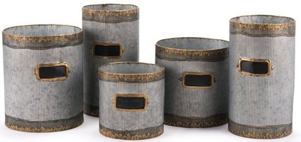 Latitas Planters Antique (Set of 5)