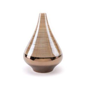 Dual Short Vase Brown & Pearl (Set of 2 Units)