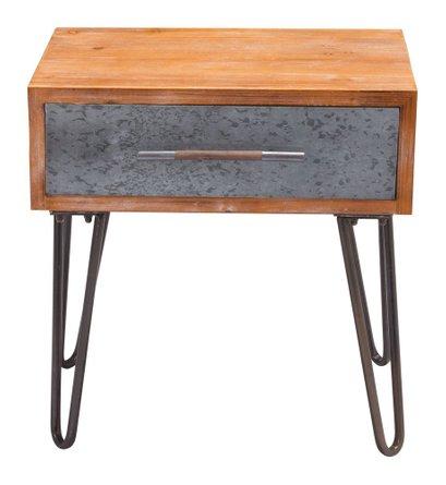Metal End Table Antique