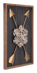 Blanca Wall Decor Antique Brown