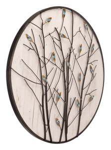 Spring Wall Decor Antique White & Brown